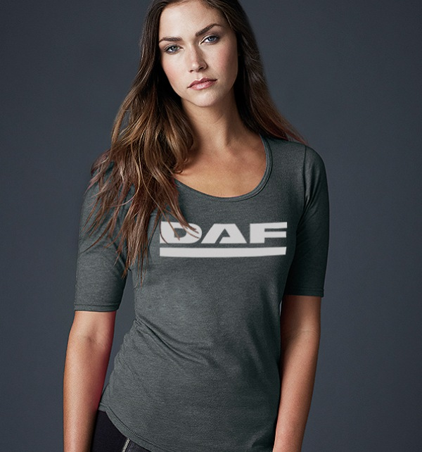 DAF Scoop neck Ladies t-shirt in various colours - Image 1