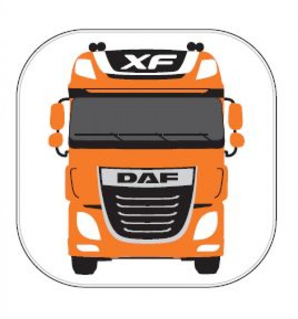 DAF Orange Coasters - Set of 10 - Image 1