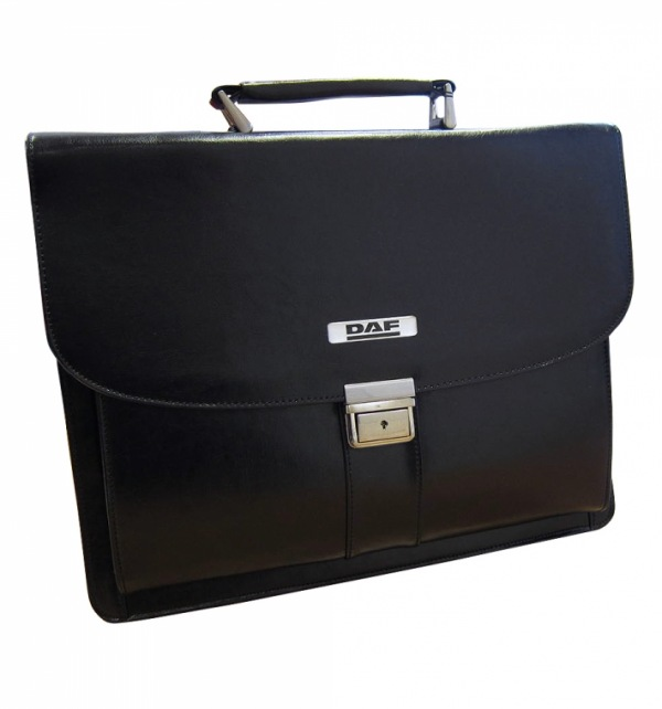 DAF Falcon Leather Laptop Briefcase