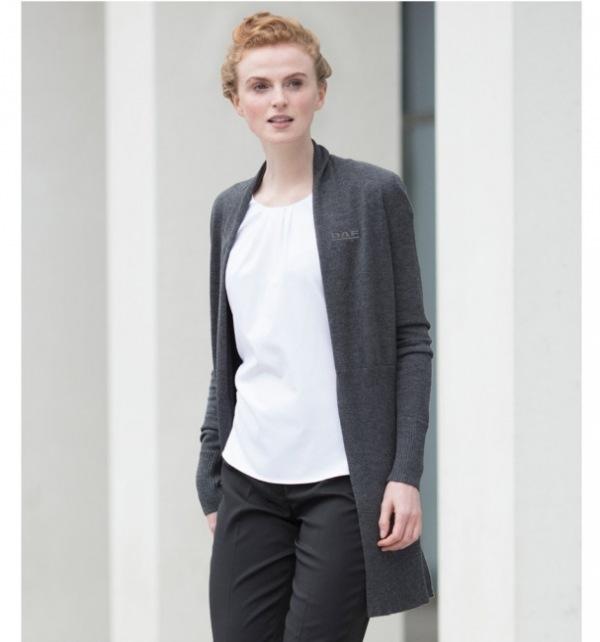 DAF Ladies Long Open Cardigan - Image 1