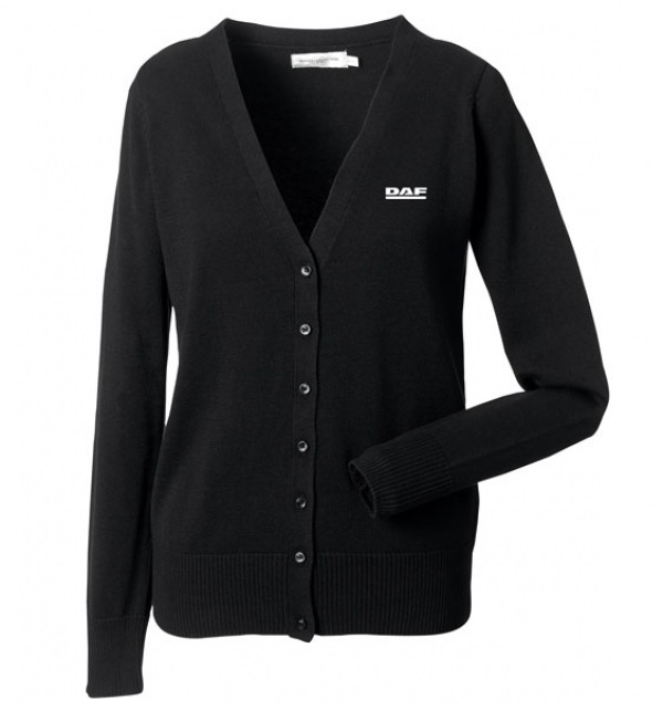 DAF Ladies Black Knitted Cardigan - Image 1
