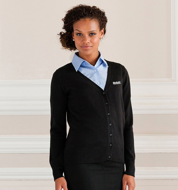 DAF Ladies Black Knitted Cardigan - Image 0