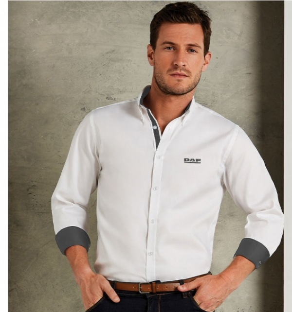DAF Long Sleeve Shirt With Contrast Trim - Image 1