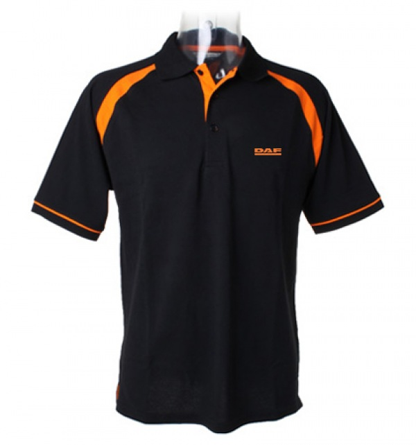 DAF contrast stripe on shoulder polo shirt