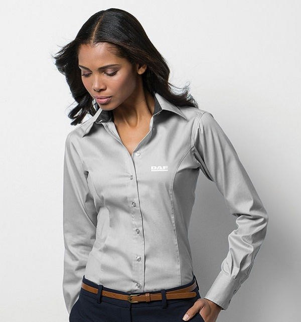 DAF UK Ladies Long sleeved Oxford Shirt