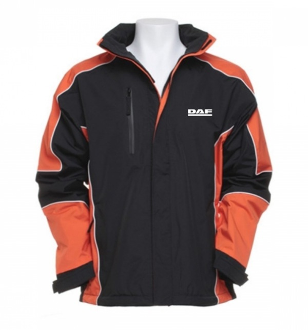 DAF Racing Jacket_Black and Orange - Image 1