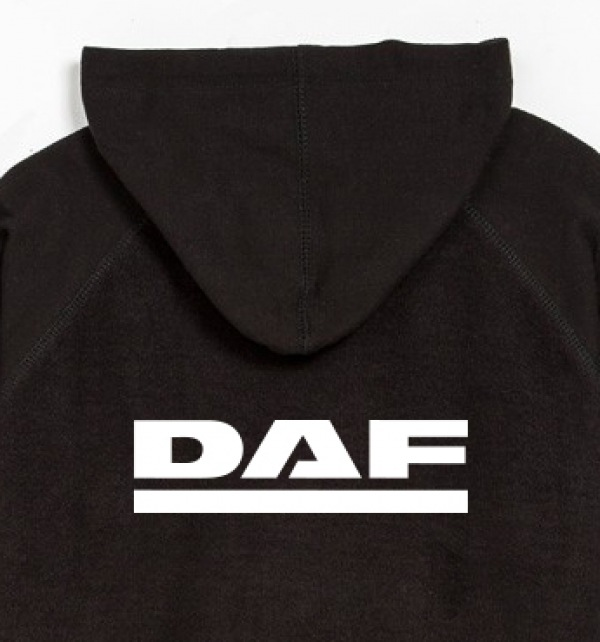 DAF Hooded Zipped Jumper_Black and Grey - Image 2