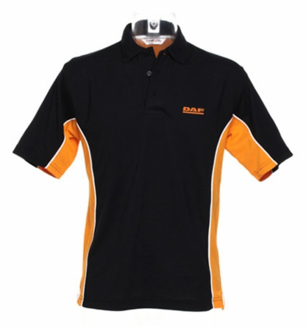 DAF contrast side colour polo shirt