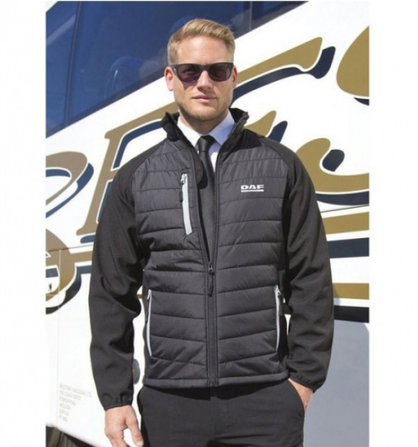 DAF Padded Softshell Jacket With Contrast Trim - Image 1