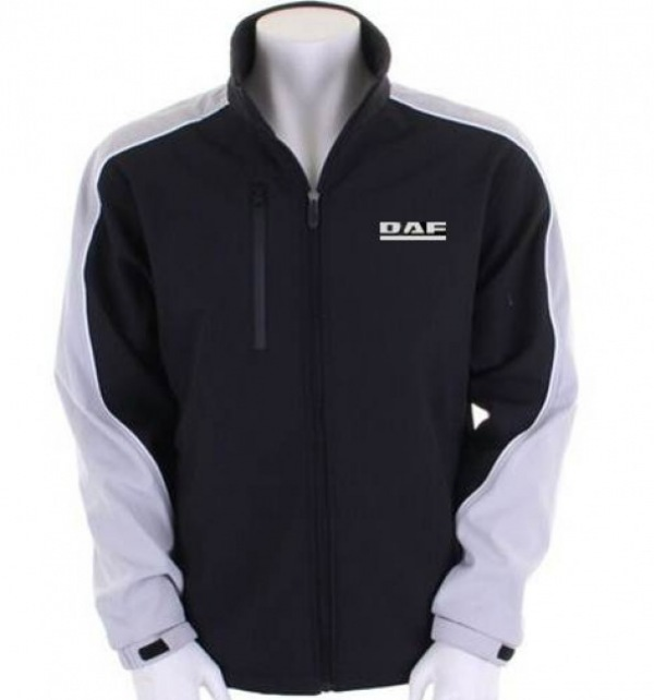 DAF Men's Soft Shell Jacket Black/Grey - Image 0